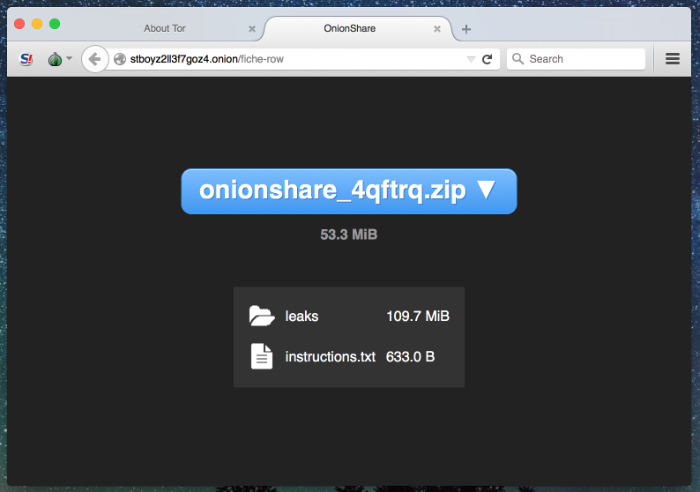 Tor at the Heart: OnionShare | Tor Blog